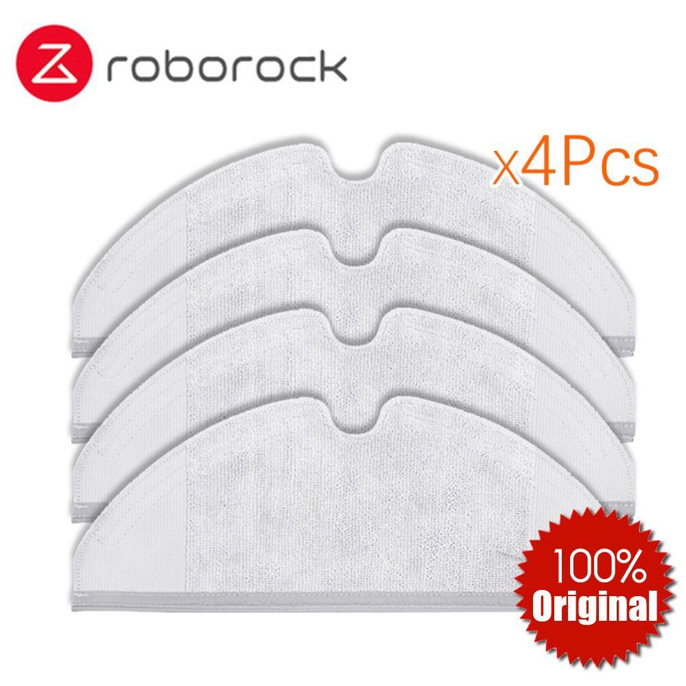 4 stücke Original Roborock S50 S51 Teile Mop Tücher für Xiaomi Staubsauger Generation 2 Trocken Nass Wischen Reinigung