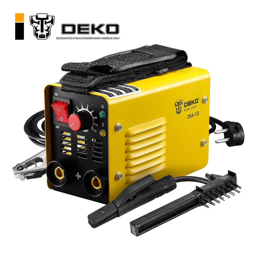 DEKO DKA-120 120A 4.1KVA IP21S Inverter Arc Elektrische Schweißen Maschine MMA Schweißer für Schweiß Arbeiten und Elektrische Arbeits