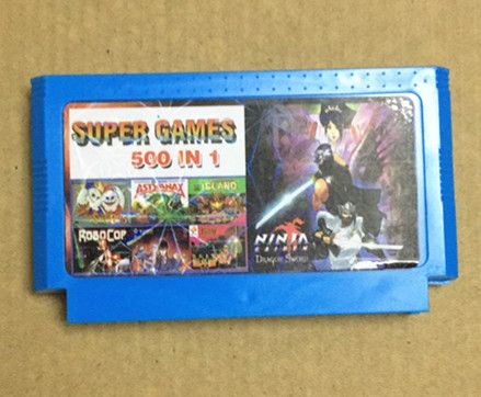 Real 500 in 1 Game Cartridge, No repeat, 8 bit FC60Pins classical game card