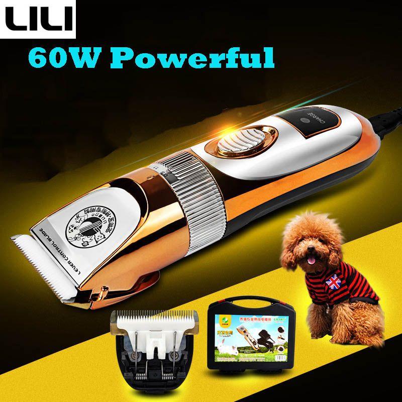 LILI ZP-293 60W tondeuse professionnelle pour chien Animal toilettage tondeuses chat coupeurs puissant Machine rasoir électrique ciseaux