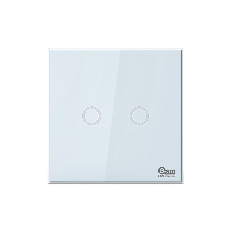 NEO COOLCAM NAS-SC01Z Z-wave Plus Wall Light Switch 2CH Gang Home <font><b>Automation</b></font> Z Wave Wireless Smart Remote Control Light Switch