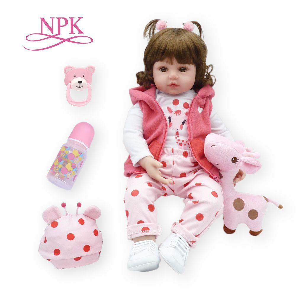 Bebes reborn poupée 47cm silicone souple reborn bambin bébé poupées com corpo de silicone menina noël surprice cadeaux lol poupée