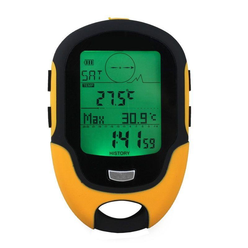 FR500 multifonction altimètre LCD numérique boussole Portable extérieur Camping voyage altimètre baromètre thermomètre hygromètre