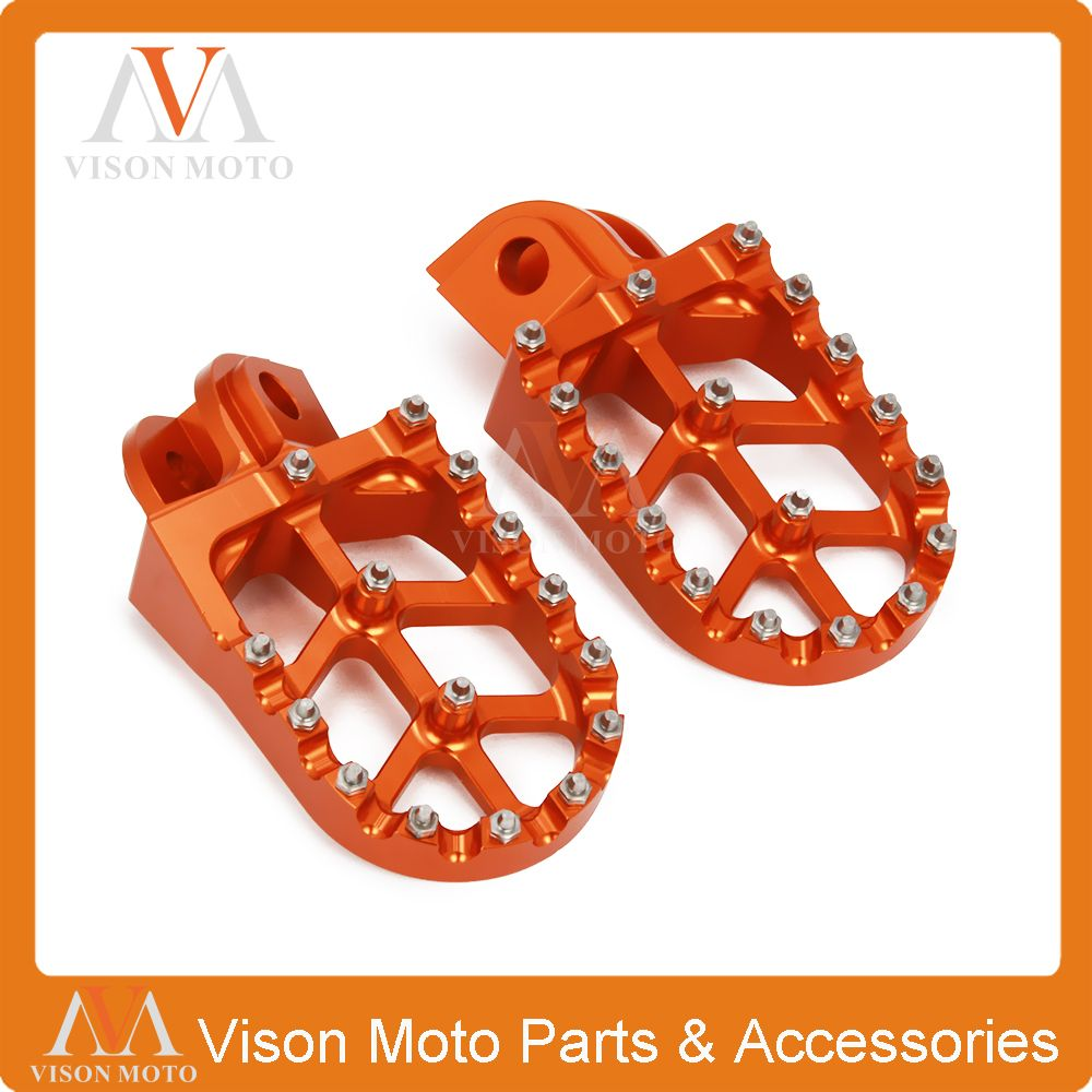 Billet Foot Pegs Rests Pedals For KTM EXC SX SXF XC XCW XCF EXCF EXCW XCFW 65 85 125 200 250 300 350 400 450 525 530 MX SIX DAYS