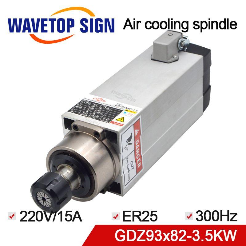 CNC Spindel 3.5KW GDZ93 * 82-3,5 Luftkühlung Spindel 220 v/380 v 15A 300 hz 18000 rpm ER25 4 p verwenden für CNC Router Maschine