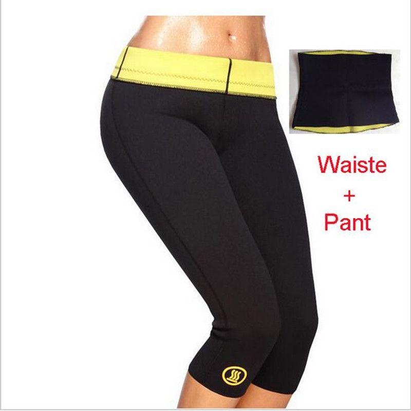Pants + Waist Belt Hot Shapers Pants Set Women's Slimming Sets Body Shaper Waist Corsets Plus Size S M L XL XXL XXXL