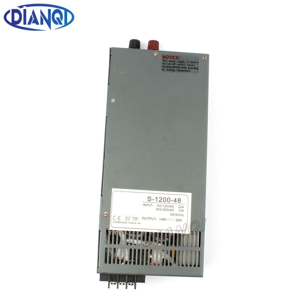 DIANQI 1200W 12V 24V 36V 48V Switching power supply for LED Strip light AC to DC power suply input 110v 220v 1200w power supply