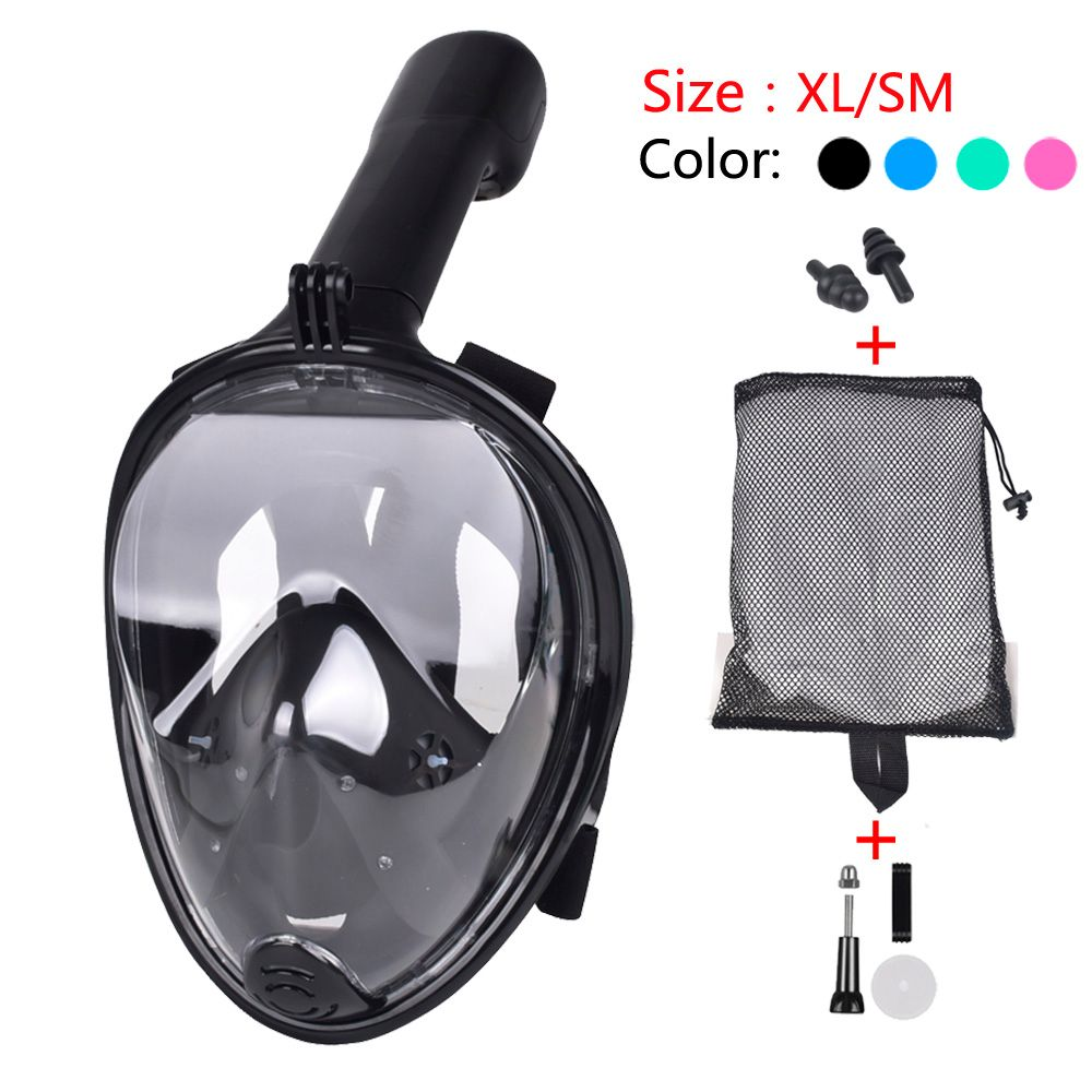 2019 NEW Full Face Snorkeling Mask Set Diving Underwater Swimming Training Scuba Mergulho Snorkeling Mask For Gopro Camera