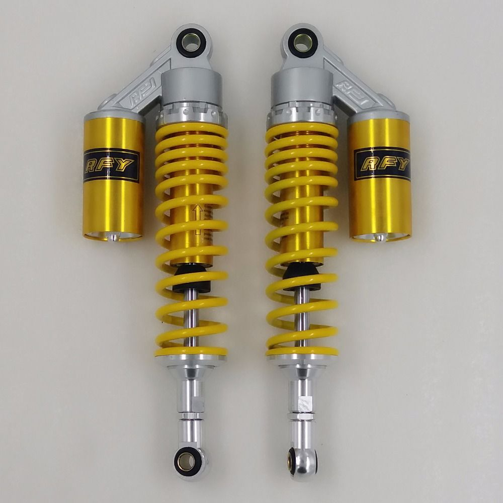 340mm 7mm spring Nitrogen shock absorbers FOR cb400 99-11 vtec 92-98 sf xjr400 Dirt Bike Gokart Quad MOTORCYCLE Yellow+silver