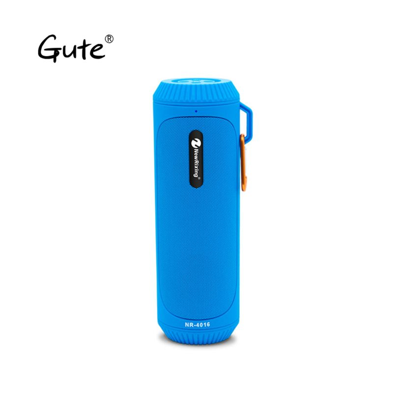 Gute fashion hot column flashlight torch splashproof portable wireless speaker Bluetooth 5.0 bike mount hook Stereo bass F4 dia