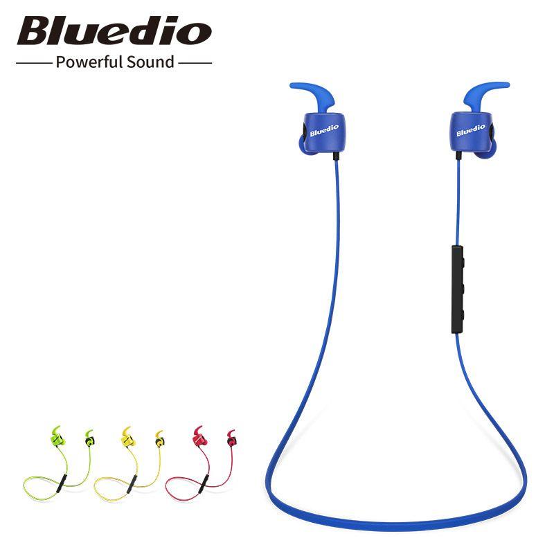 Bluedio TE d'origine mini bluetooth sans fil écouteur sweatproof sport écouteur avec microphone pour téléphone et casque de musique