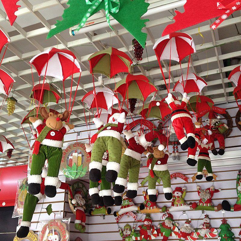 La Nouvelle De Noël Charme Décorations Pour La Maison Parachute Santa Claus De Noël Bonhomme De Neige Ornements Festival Cadeau