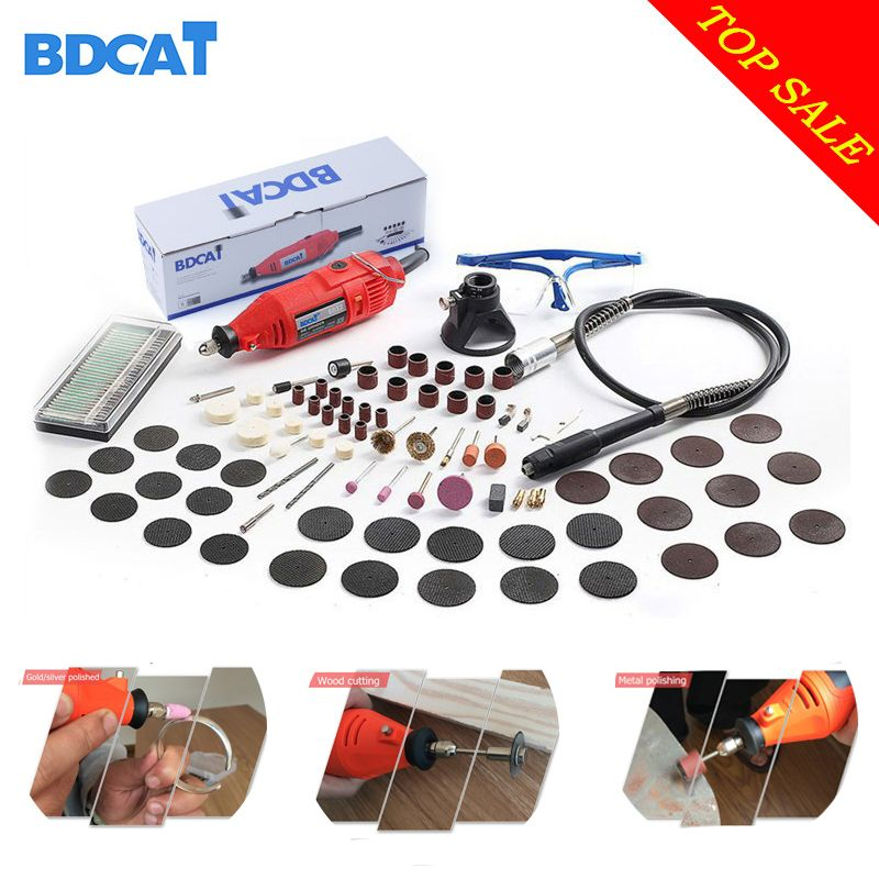 BDCAT 180W Electric Dremel Mini Drill polishing machine Variable Speed Rotary Tool with 140pcs Power Tools accessories