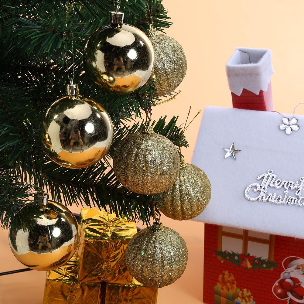 Cajas de Bolas de navidad Adornos de Árbol de Navidad Decoración Colgante de Año Nuevo Decoración Del Partido Suministros de Decoración De Bolas De Navidad