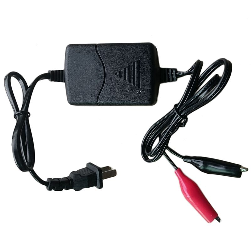 CAR-partment Brand Battery Charger Black 12V Sealed Lead Acid Rechargeable Battery Charger for Motorcycle US Plug