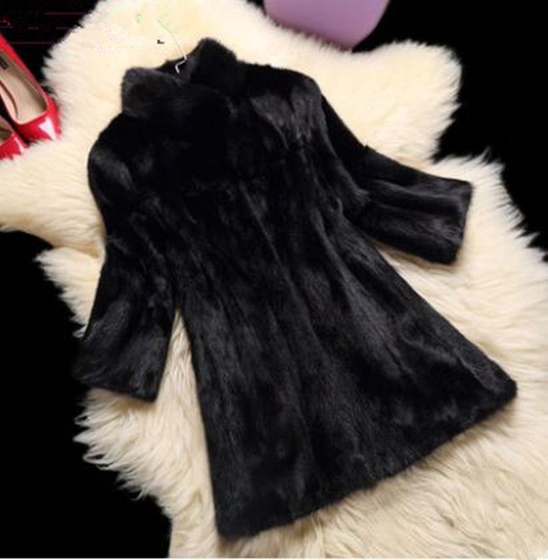 Mink coat pieces mink water mink fur coat women models 2017 winter new in the long section