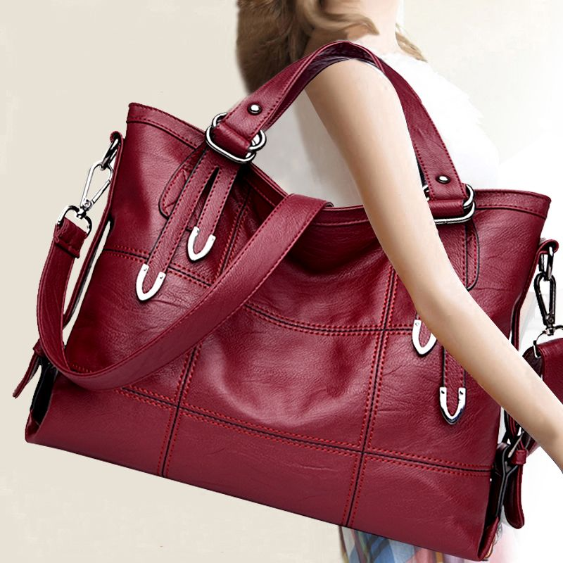 Our ReALIty 1 New Arrival Women Large Capcity Handbag Lady Tote Female Solid Color Fashion Vintage Style New Trendy Bag EGT0125