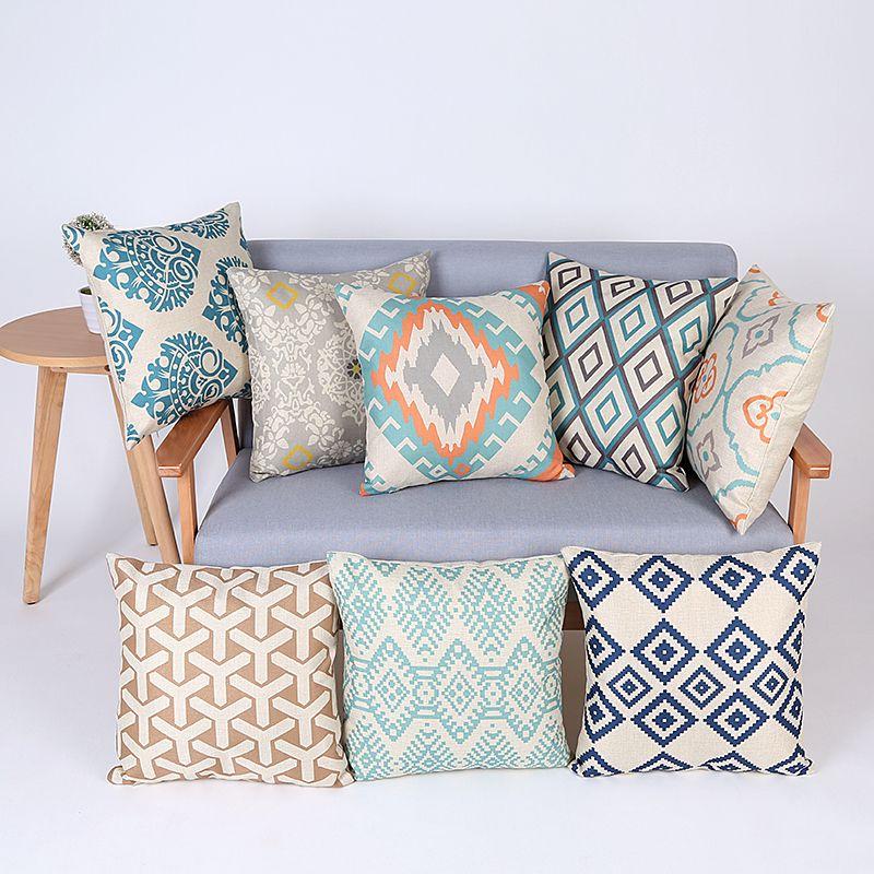 geometric cushion cover decorative throw pillows chair almofadas para sofa pillow cover cojines cushion cushions home decor