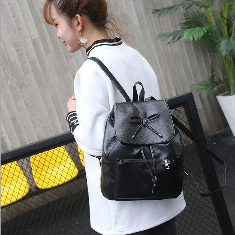 dower me ET1-7 Women Backpack Female College Students Back Pack Large Capacity Cute Cat Pattern Printing
