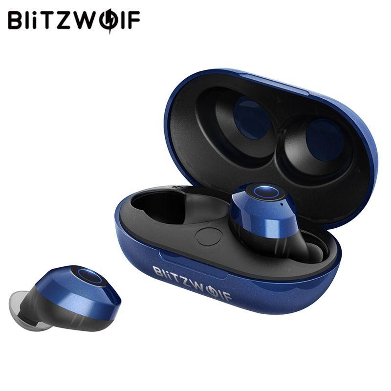 Blitzwolf FYE5 Bluetooth 5.0 sans fil vrai écouteur TWS Sport écouteurs 10 M connexion stéréo écouteur IPX6 étanche-bleu noir