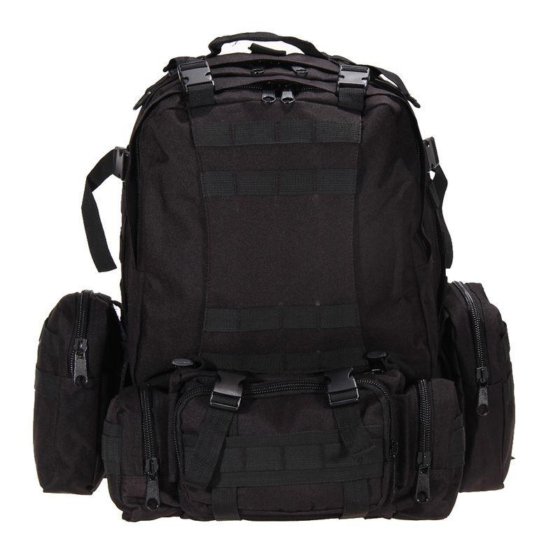 55L Large Capacity Outdoor Sports Bag Mountain Backpack Rucksacks Military Tactical Bag Hiking Hunting Bags Packs FREE SHIPPING