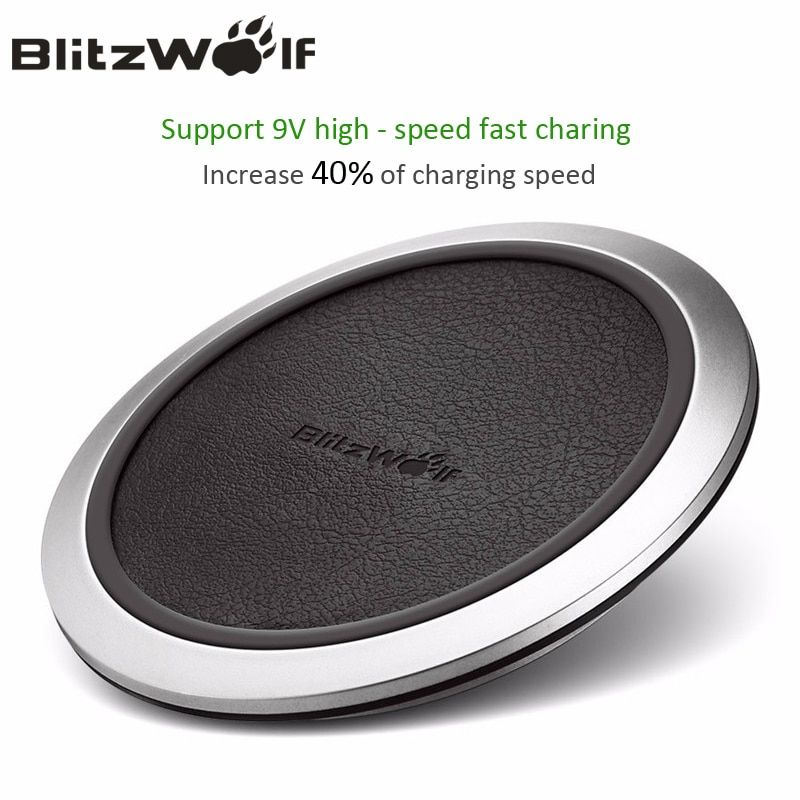 BlitzWolf Qi Wireless Charger Desktop Mobile Phone Charger 9V Fast Charging <font><b>Pad</b></font> For Samsung S8+ S7 S7 Edge Smart Phones Chargers