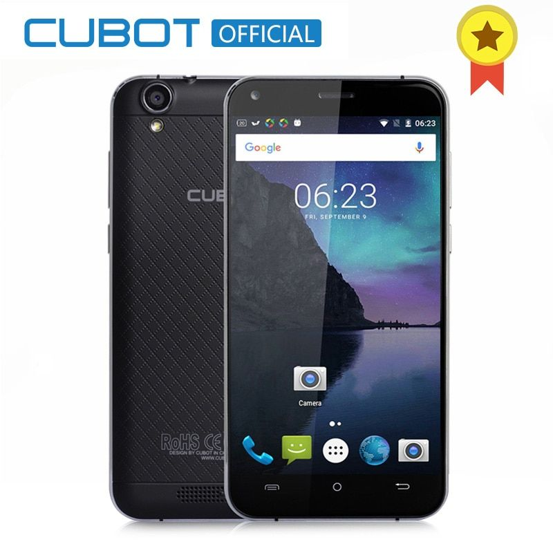 CUBOT MANITO 5.0 Inch MTK6737 Quad Core Smartphone Android 6.0 Cell Phone 3GB RAM 16GB ROM 4G LTE Dual Sim Mobile Phone