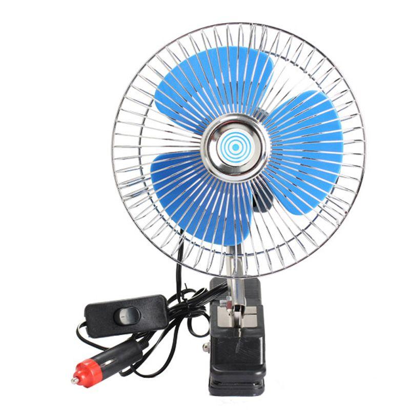 12 V Mini ventilateur de voiture électrique refroidissement à faible bruit été voiture climatiseur ventilateur Portable véhicule camion Auto oscillant ventilateur de refroidissement
