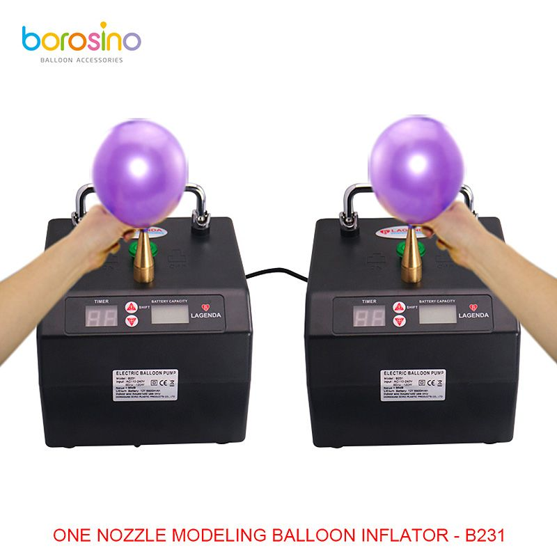 B231 Professional Lagenda Twisting Modeling Balloon Inflator with Battery Digital Time and Counter Electirc Balloon Pump