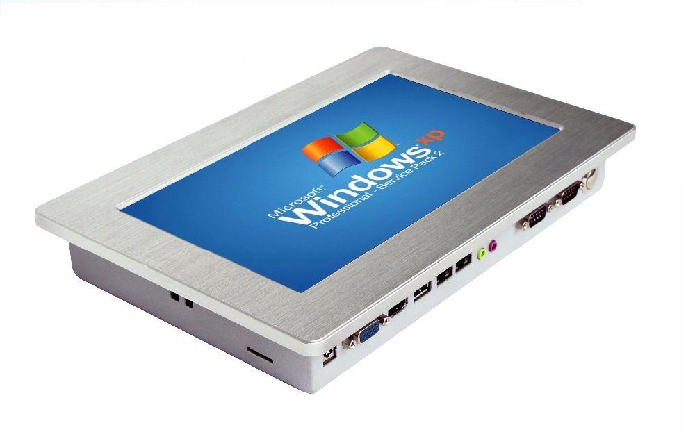 IP65 wasserdichte lüfterlose mini robusten industrie-tablet-pc mit 10 zoll touch screen unterstützung Windows10