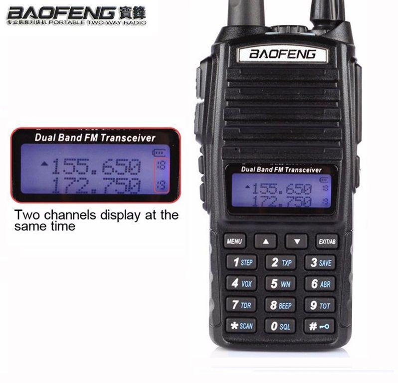 HOT Portable Two-way Transceiver Radio Walkie Talkie 10 km CB Ham Radio amateur For Vhf Uhf Dual Band UV 82 UV82 Baofeng UV-82