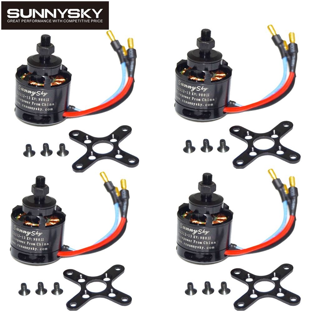 4pcs/lot 100% Original SUNNYSKY X2212 980KV/1250KV/KV1400/2450KV Brushless Motor (Short shaft )Quad-Hexa copter
