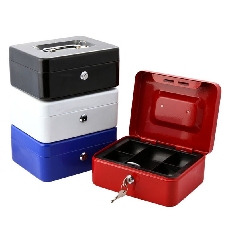 Ne Mini Portable Security Safe Box Money Jewelry Storage Collection Box For Home School Office With Compartment Tray LockableXS