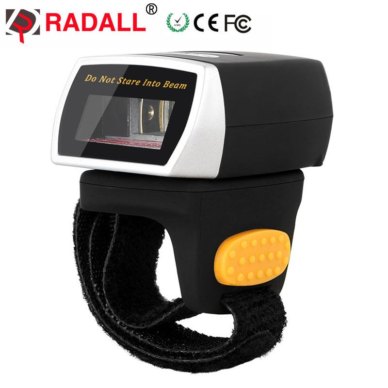 Scanner de codes barres sans fil RADALL RD-R2 avec lecteur de codes barres Portable bluetooth anneau de doigt scanner Portable longue portée 32bit