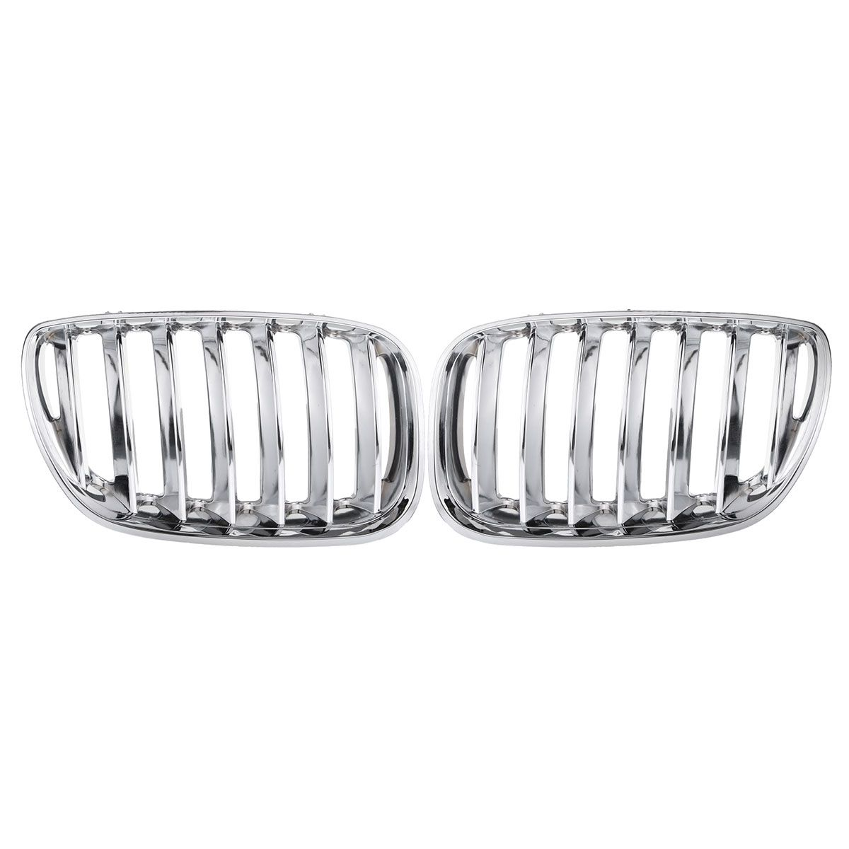 1 Pair Chrome Front Hood Kidney Sport Grills Grilles Fits for BMW X5 E53 2004 2005 2006