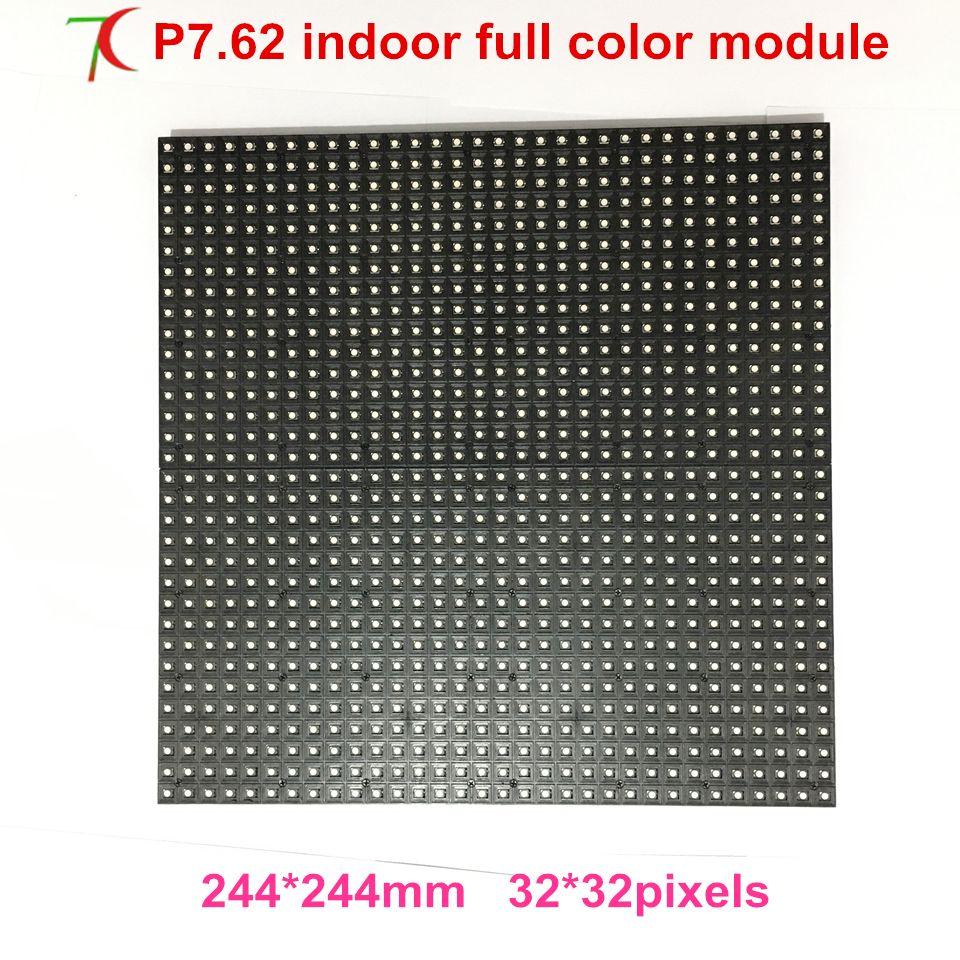 Module polychrome d'intérieur de P7.62 pour le mur visuel de écran LED, SMD de balayage de 16, 244mm * 244 m