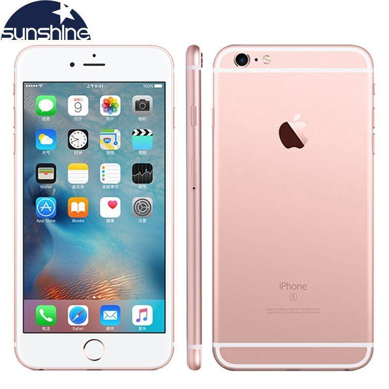 Téléphone portable Original débloqué Apple iPhone 6S double Core 2GB RAM 16/64/128GB ROM 4.7 ''12.0MP caméra 4G LTE Smartphone