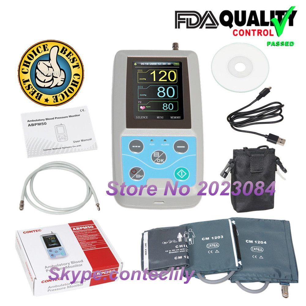 ABPM50 24 stunden Langzeit-blutdruck-monitor Holter Abpm Holter BP Monitor mit software contec