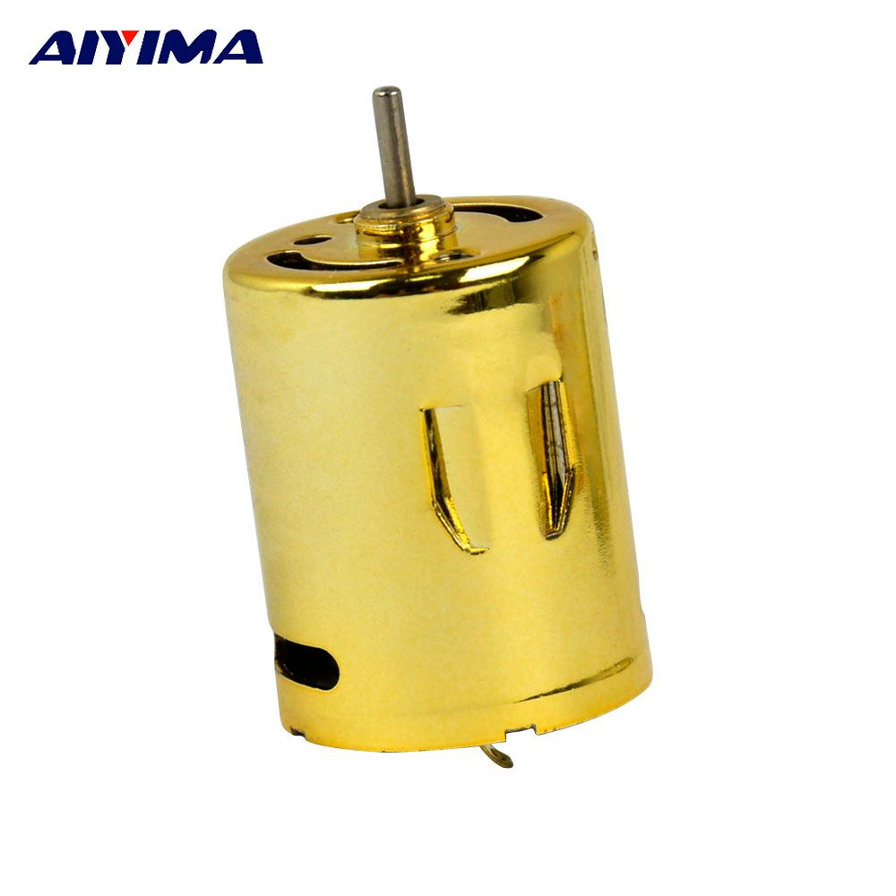 Aiyima 370 Micro Water Bomb Motor 11.1V 6100rpm/m High Speed NdFeB Magnets Double Ball Bearings Mini DC Motor Tyrant Gold
