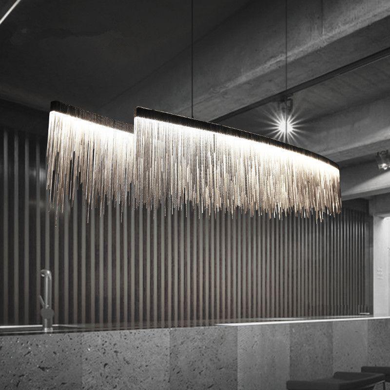 Moderne Drei Qualitäten Licht Intensität Quaste Kronleuchter Nordic restaurant luxus hotel engineering kette wohnzimmer kunst beleuchtung