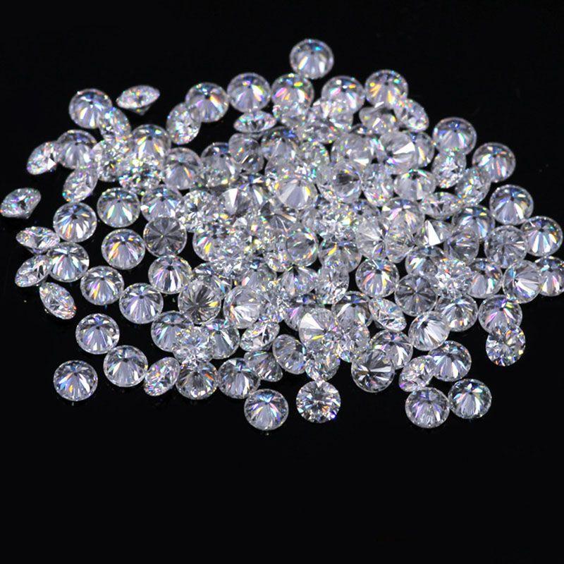 AEAW 1,3mm Insgesamt 1 CTW karat F Farbe Zertifizierten Labor Moissanite Diamant Lose Perle Test Positive Ähnliche, um Für Immer ein