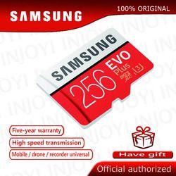 Оригинальный Samsung Micro SD карта 32 ГБ Class 10 карт памяти Evo + EVO Plus MicroSD 256 ГБ 128 ГБ 64 ГБ 16 ГБ TF карты картао де memoria