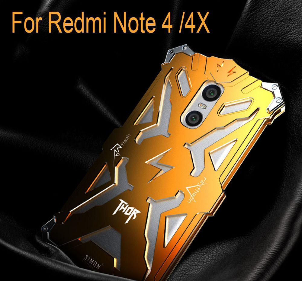 Aleación de Aluminio del metal del Capítulo de Parachoques para Xiaomi Redmi Nota 2 3 4 4X Cubierta A Prueba de Golpes Anti Golpes