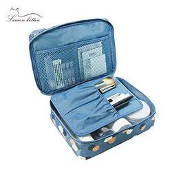 Nuevas mujeres embalaje cubo plegable bolsa de viaje Neceser de las señoras maquillaje organizador lavado lona malas de viaje para Baño
