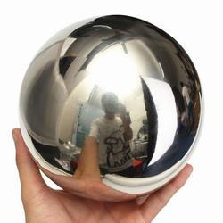 stainless steel hollow ball Brightness Shine Mirror Sphere Hollow Balls Home Garden tools balls Ornament Decoration mirror ball