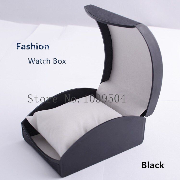 Оптовая продажа пластиковых смотреть ящик черный высокий класс бренд корпус часов с подушкой Роскошные модные часы Подарочная коробка