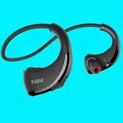Fiidiil Sport Bluetooth Earphone IPX5 Tahan Air Nirkabel Headset Ear Hook Headphone Stereo Audio dengan Mikrofon