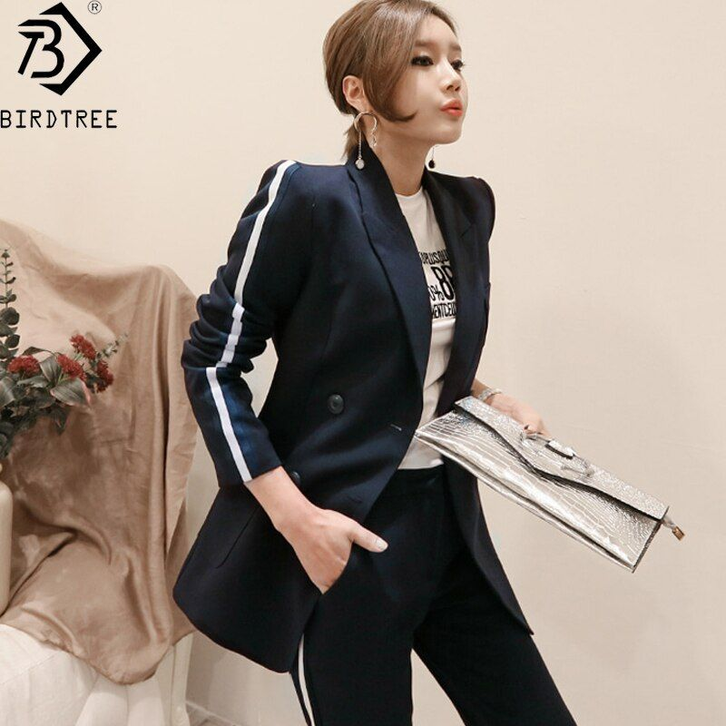 2 Piece Office Suits for Women 2018 Summer New Slim Office Lady Suit Double Breasted Blazer Top+Pant Suits Hot Sales S85508X