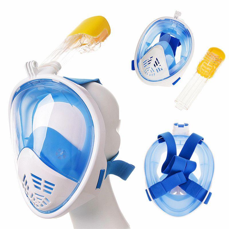 Nouveau Set de plongée en apnée sous-marine 180 degrés de large masques respiratoires sûr et étanche masque de plongée Anti-buée