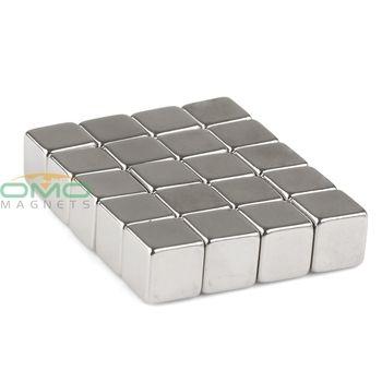 20 pcs N50 Super Strong Bloc Cube 10mm x 10mm x 10mm Rare Earth Néodyme Aimant